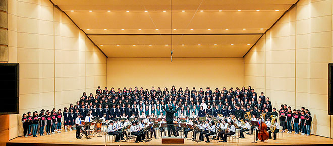 HfJ2015 「 群青」(吹奏楽伴奏版) 初演
